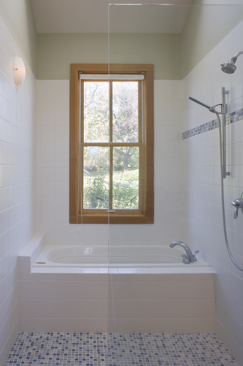 Window in bathtub/shower area. I've been told that is not a good idea,  although, I like the light.