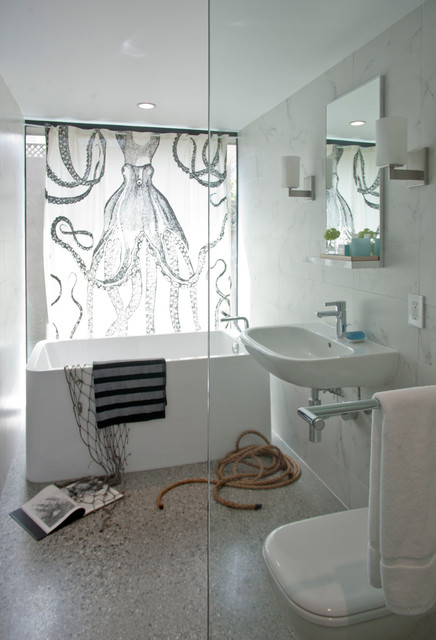 Pied A Terre Contemporary Bathroom San Francisco By Three Legged Pig Design