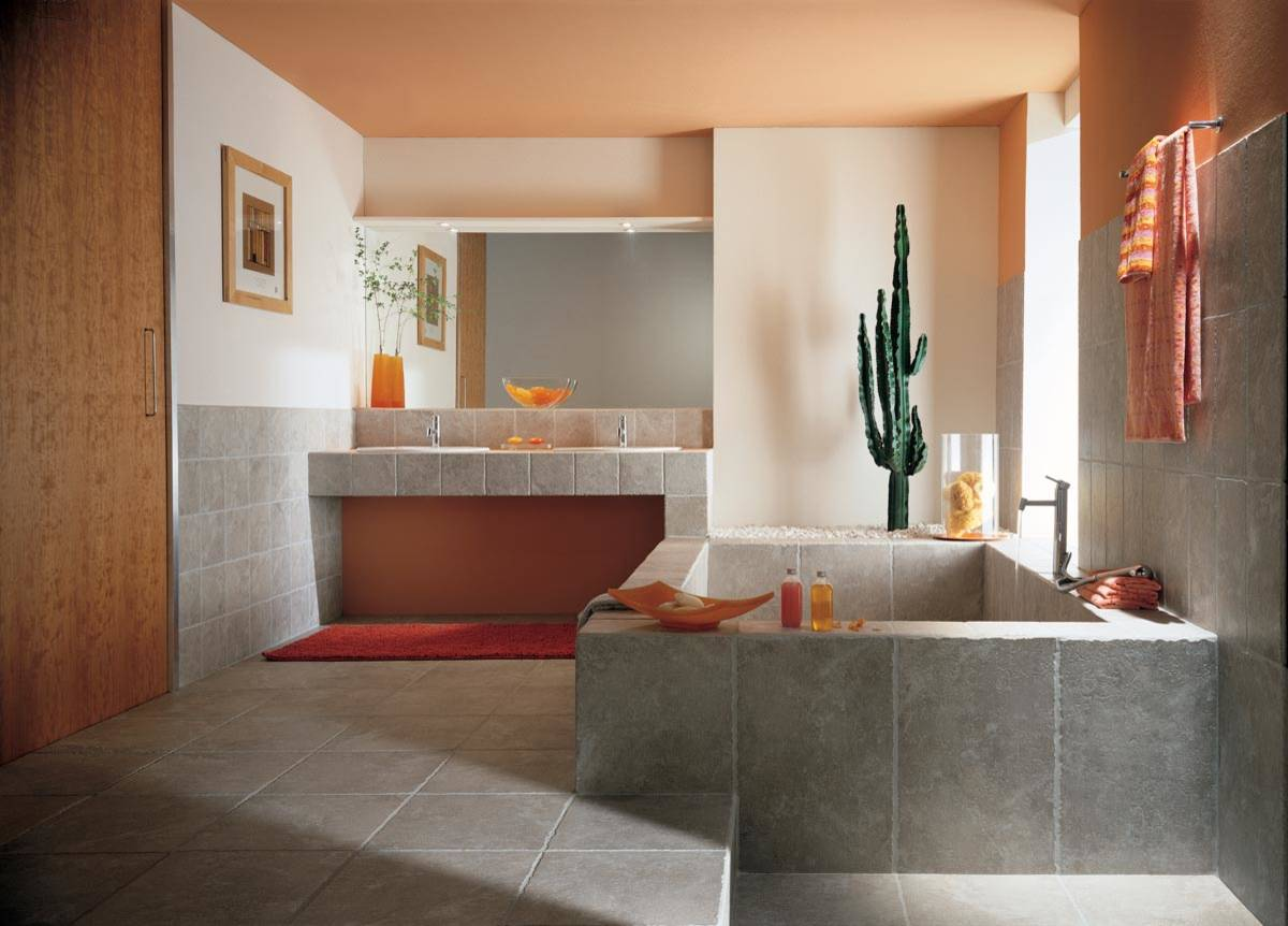 Coral And Gray Bathroom Ideas Houzz