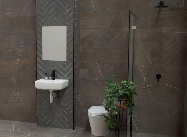Pietra Grey Marble Bathroom Modern Bathroom