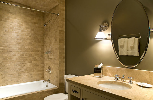 Pine Grove Point Rustic Bathroom