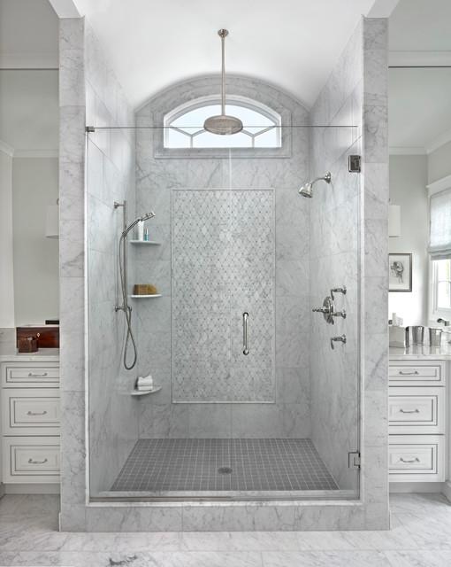 Lovely Transitional Bathroom by Marianne Jones LLC