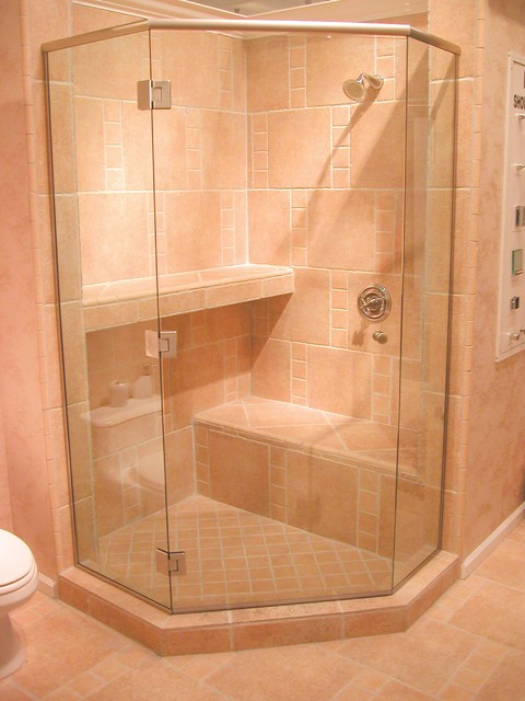 Pinecrest Frameless Shower Door Installation Traditional Bathroom Miami By Standard
