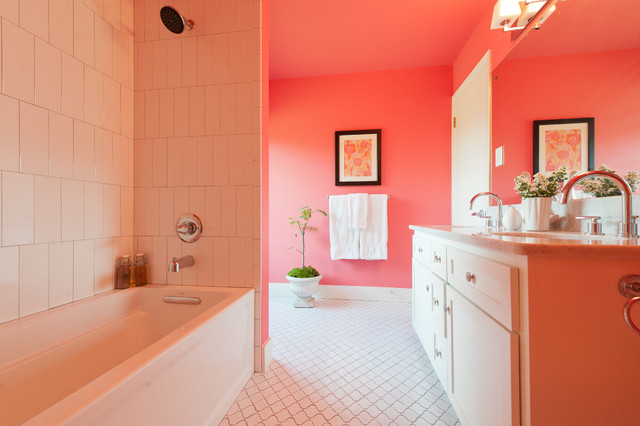 Pink Bathroom Modern Bathroom Austin By Schroeder