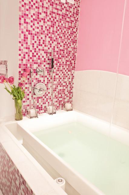pink glitter bathroom - contemporary - bathroom - new york
