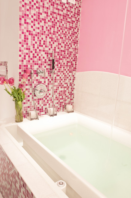 Pink Glitter Bathroom Contemporary Bathroom Other