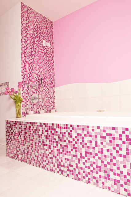 Pink Glitter Bathroom Contemporary bathroom