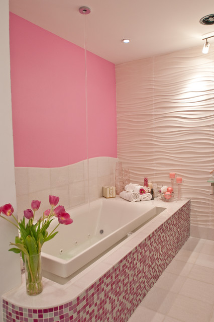 Pink Glitter Bathroom Modern Bathroom New York By
