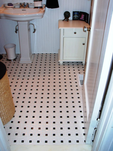Bathroom Tiles Traditional pinwheel bathroom floor tile - traditional - bathroom - raleigh