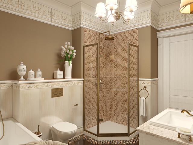 Pionerskaya str., project of the flat in Minsk traditional-bathroom