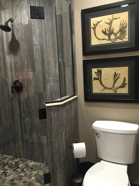 Plank & Pebble Guest Bath - Rustic - Bathroom - Other - by Sarah Berghorst, Birch & Sable Interiors