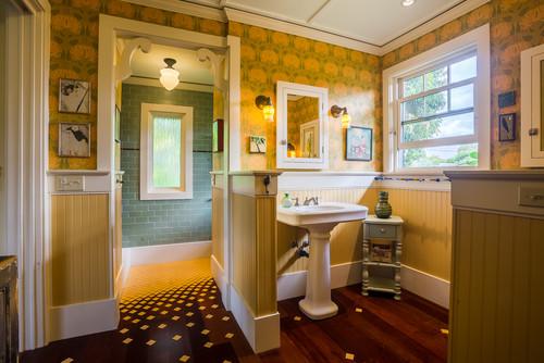 mustard yellow bathroom design ideas