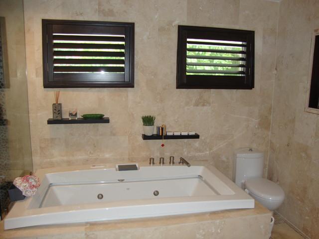 Plantation Shutters Traditional Bathroom Miami By Chio S
