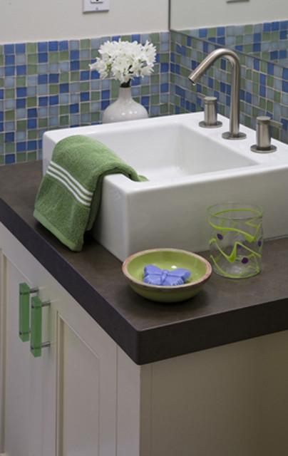Playful Children's Bathroom in Modern Residence contemporary-bathroom