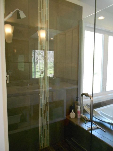 Plymouth Master Bath Contemporary Bathroom Detroit By Kathryn Peltier Design