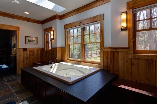 Pocono Lakehouse remodel traditional-bathroom