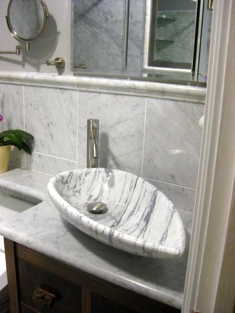 Bathroom Marble Sink : ... Marble - Modern - Bathroom - other metro - by Eden Bath - Vessel Sinks