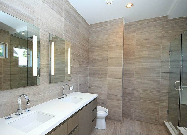 Point grey spec house modern bathroom vancouver by for Bathroom ideas grey
