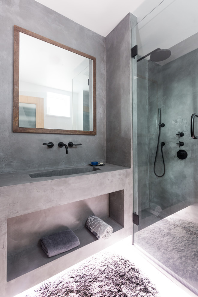 Polished Concrete Bathroom Wing