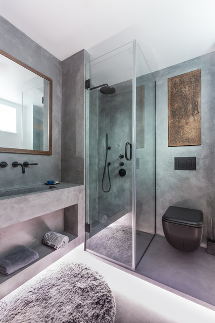 Polished Concrete Bathroom Wapping London E15 Industrial Bathroom London By Cemlux