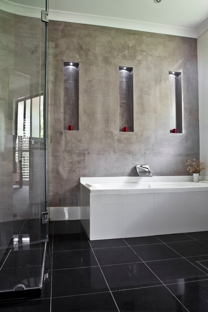Polished Plaster modern-bathroom