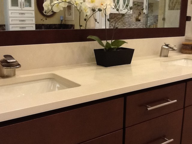 Pompeii quartz barcelona vanity tops and side splashes for Bathroom quartz vanity tops