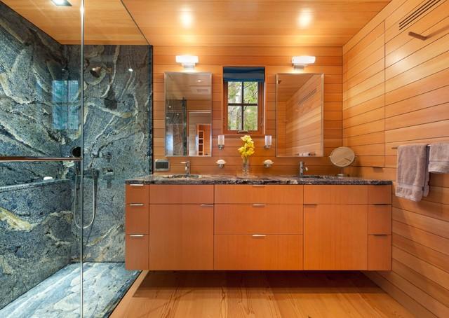 Pond House Contemporary Bathroom Portland Maine By