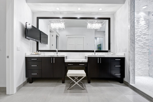 Modern Double Sink Bathroom Vanity Ideas: Ponte Vedra Residence