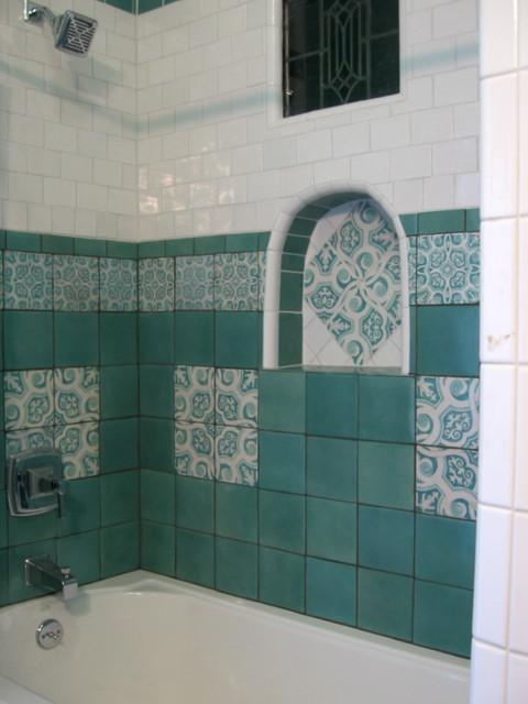 Pool bath mediterranean-bathroom