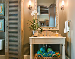 Pool Bath Open Vanity traditional-bathroom