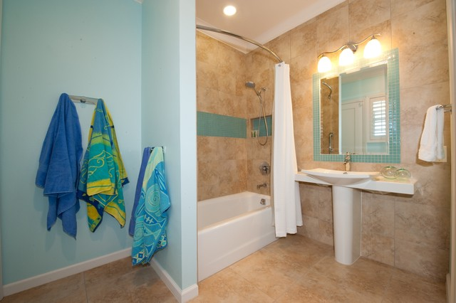 pool bathroom contemporary bathroom hawaii by