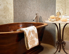 Pool House & Wine Cellar contemporary-bathroom