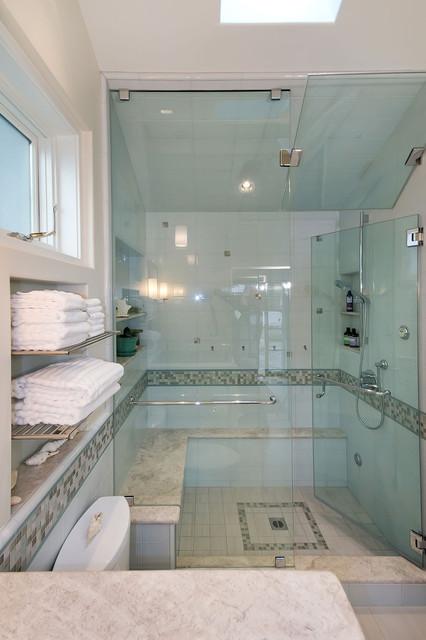 Pool House Bathroom sovremennyy-vannaya-komnata