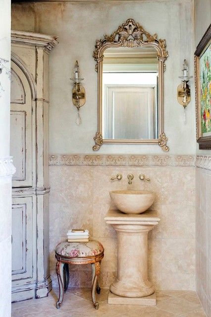 Pool House mediterranean-bathroom