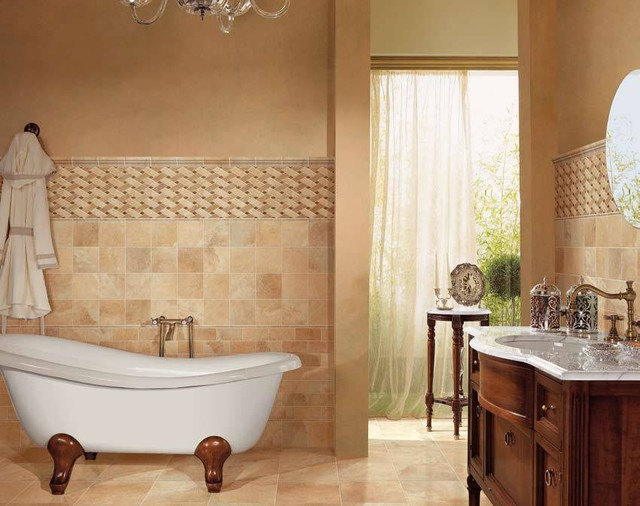 Brilliant Calacatta Porcelain Tile Bathroom  Traditional  Bathroom  Other