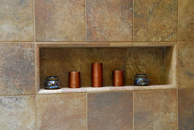 Porcelain Tile Shower Niche