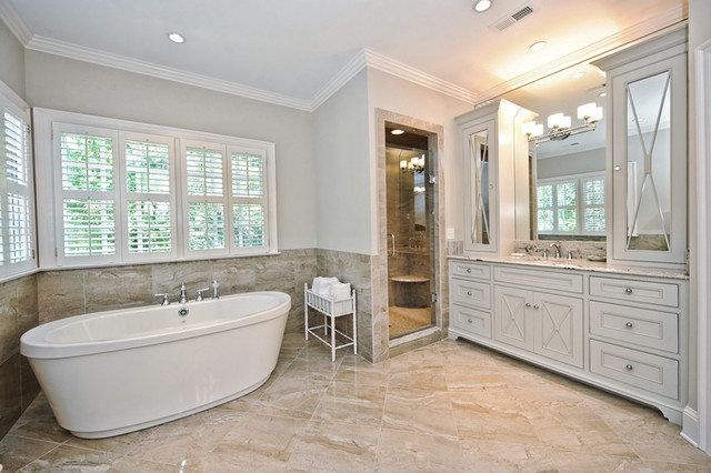Porcelain Tile Traditional Bathroom Part 59