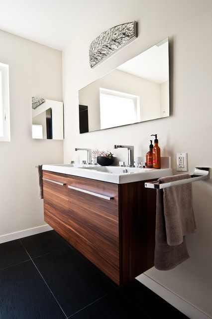 porcelanosa city nogal vanity modern bathroom san