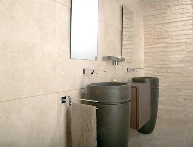 Porcelanosa tiles strip crema alejan contemporary for Azulejos porcelanosa outlet