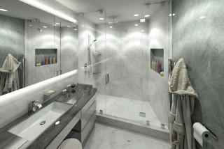 75 Badezimmer Mit Steinplatten Und Granit Waschbecken Waschtisch Ideen Bilder Februar 2021 Houzz De