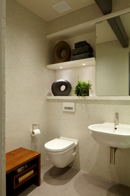 Port Washington Residence modern-bathroom