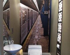 Portal to New York Guest Bathroom eclectic-bathroom