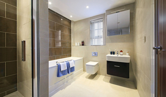 Portobello Terrace Contemporary Bathroom South West By Saneux Uk