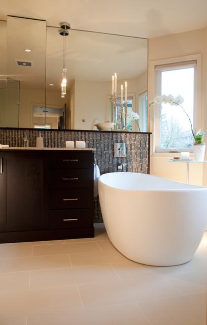 Poseidon ct master bathroom remodel modern bathroom for Bathroom remodel portland