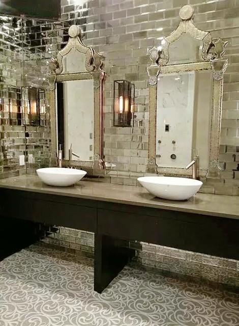 Posh Master Bathroom Eclectic Bathroom Tampa By Lisa Gilmore Design