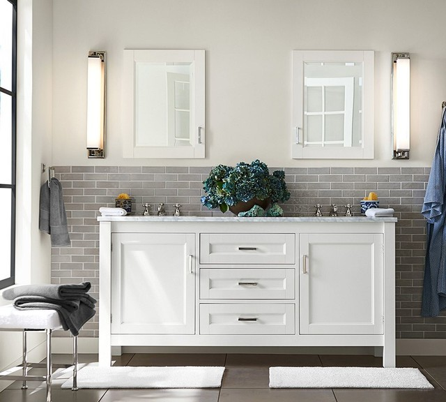 Pottery Barn Contemporary Bathroom