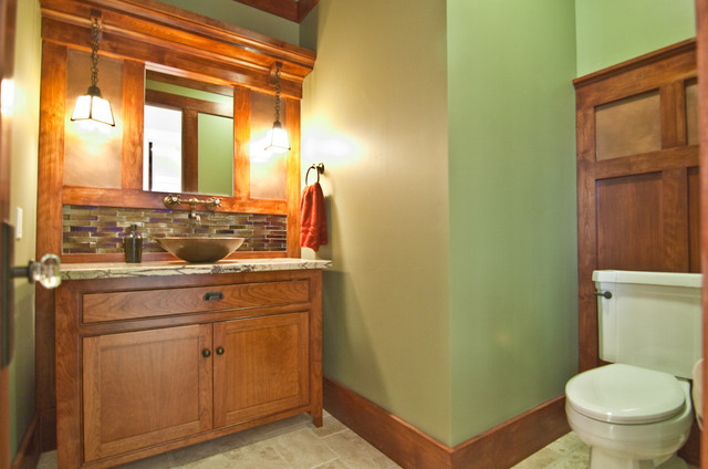 Powder Bath craftsman-bathroom