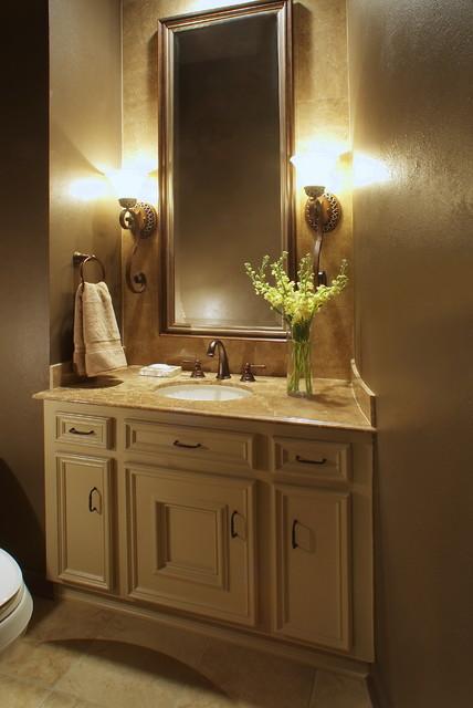 Powder bath remodel traditional bathroom houston for Bathroom interior design houston
