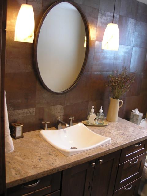 Powder bath contemporary-bathroom