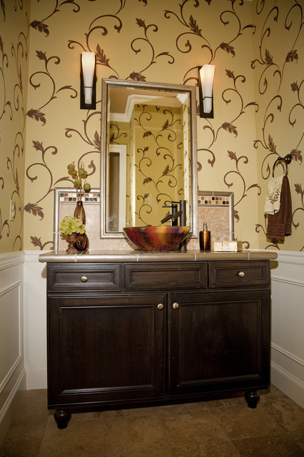 Newcastle Powder Room Contemporary Bathroom Seattle By Beverly Bradshaw Interiors